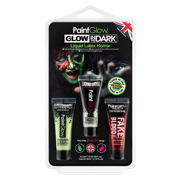 Glow in the Dark Liquid Latex Hang Pack