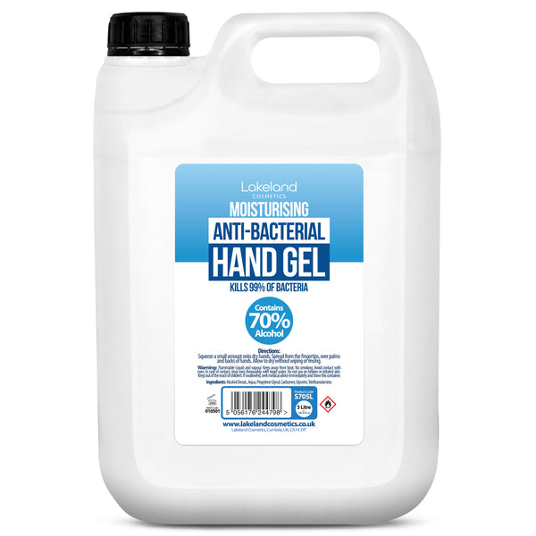 5 Litre Moisturising Anti-Bacterial Hand Gel (70% Alcohol)
