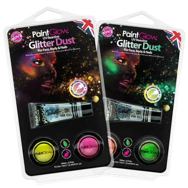 Neon UV Glitter Dust Hang Packs