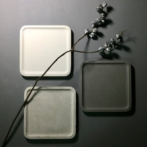 Fair face Concrete - Large Square  tray / accessory holder