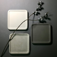 "Concrete square tray / accessory holder (large) - ""dark grey"""