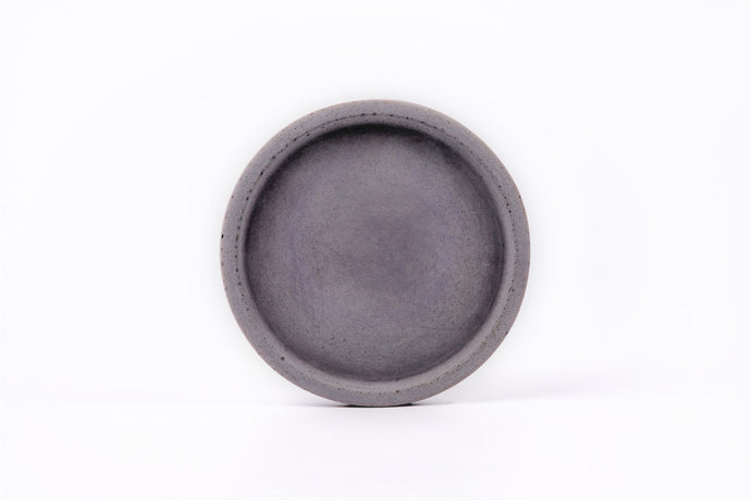 Concrete round tray / accessory holder (small) -