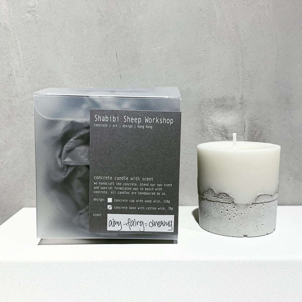 Concrete candle -