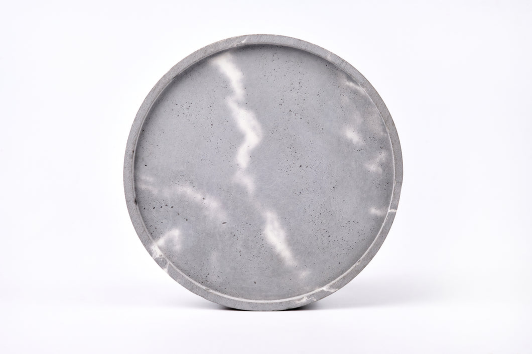 Concrete round tray / accessory holder (large) -