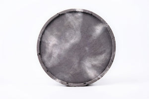 "Concrete round tray / accessory holder (large) - ""thunderstorm"""