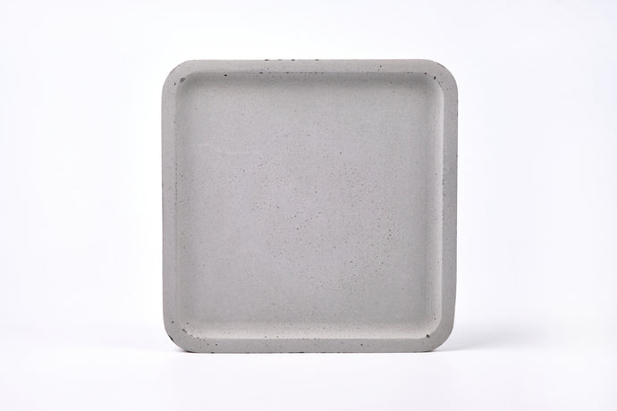 Concrete square tray / accessory holder (large) -