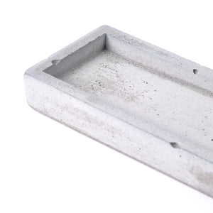 "Concrete incense stick holder with brass (long+rectangle) - ""grey"""