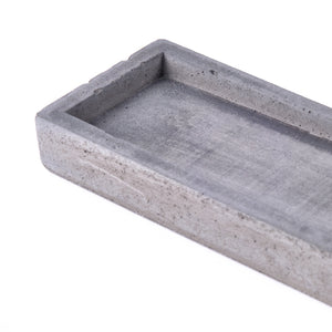 "Concrete incense stick holder with brass (long+rectangle) - ""dark grey"""