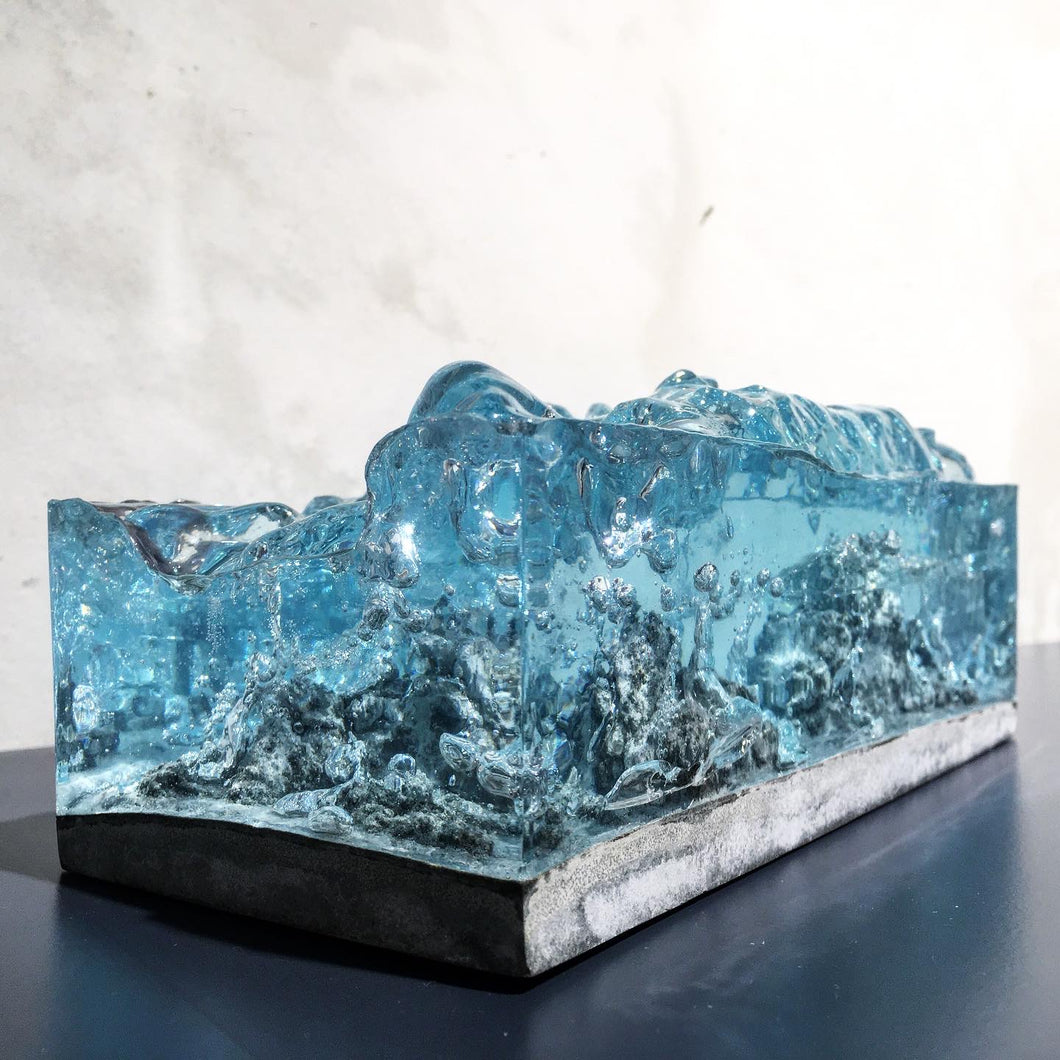 concrete x resin art | stormy wave