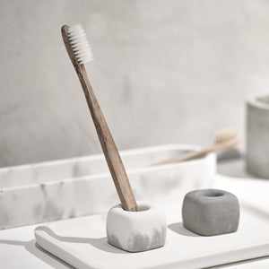 "Concrete toothbrush holder - ""dark grey"""