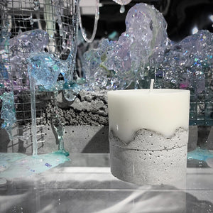 "Concrete candle - ""dreamy"""