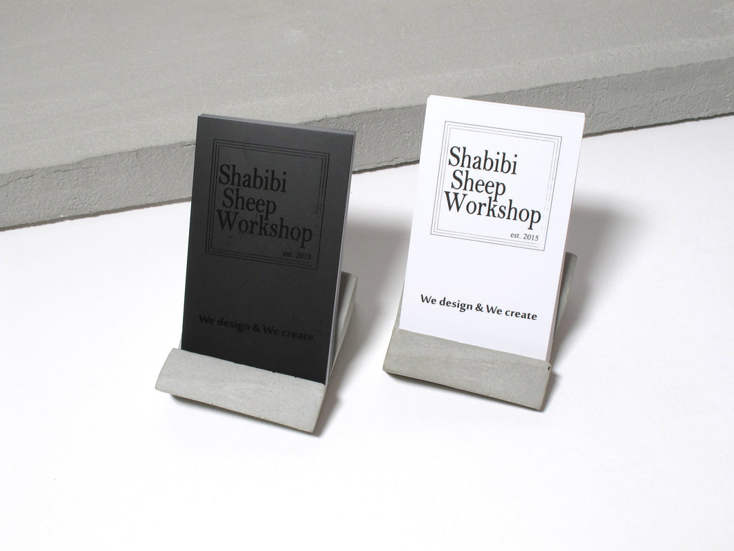 Concrete desktop business card holder (Vertical business cards)
