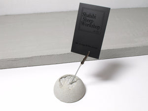 Moon surface photo stand / memo stand (Meteorite with metal clip)