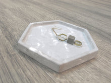 "Concrete hexagon tray / accessory holder (small) - ""marble grey"""