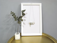 Marble Concrete x Brass Collection - Sterling silver necklace (MCB-001)