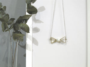 Marble Concrete x Brass Collection - Sterling silver necklace (MCB-002)