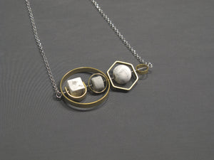 Marble Concrete x Brass Collection - Sterling silver necklace (MCB-003)