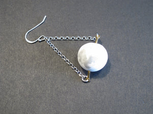 Marble Concrete x Brass Collection: Dangle and Drop Earring with Sterling Silver (MCB-101)