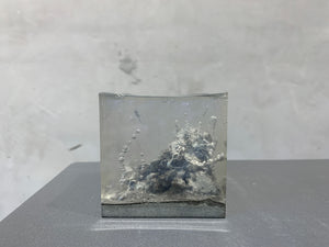 concrete x resin art | pollution | W65mm x D65mm x H65mm