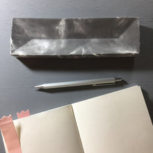 Thunderstorm - Concrete pens / pencils holder / stationery storing plate / organizer tray (Triangular design)
