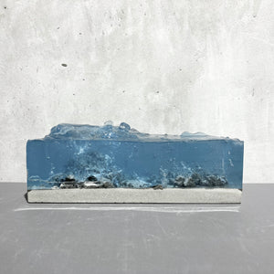 concrete x resin art | water cave, 2020 | W205mm x D90mm x H80mm