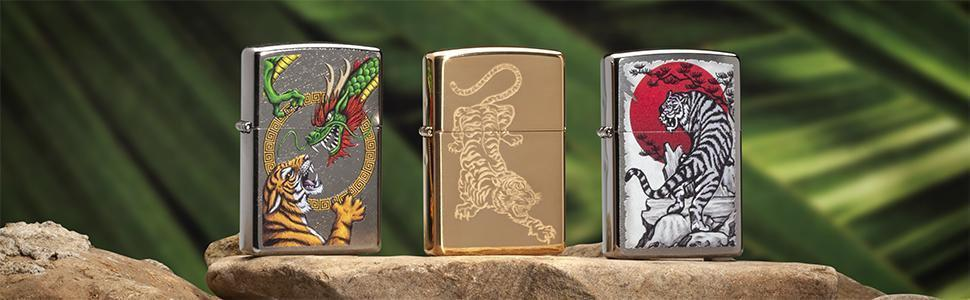 Banner for the Tiger Lighters collection