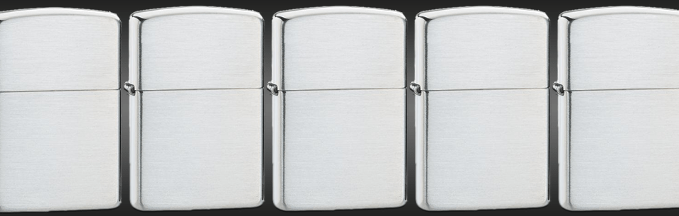 Banner for the Brushed Sterling Silver Lighters collection