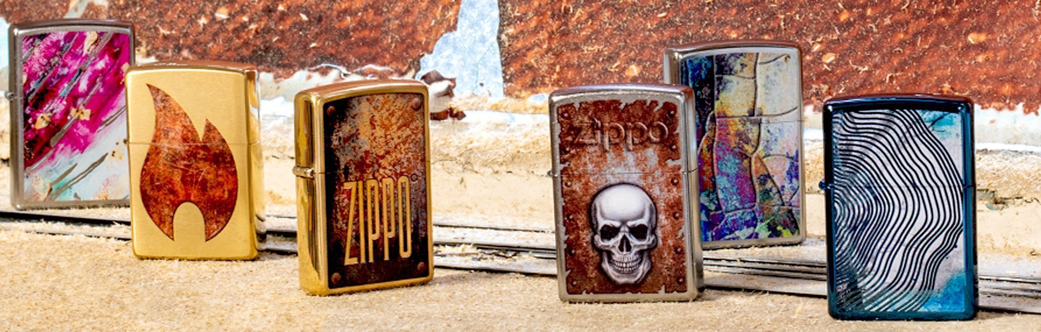 Banner for the Distressed Lighters collection