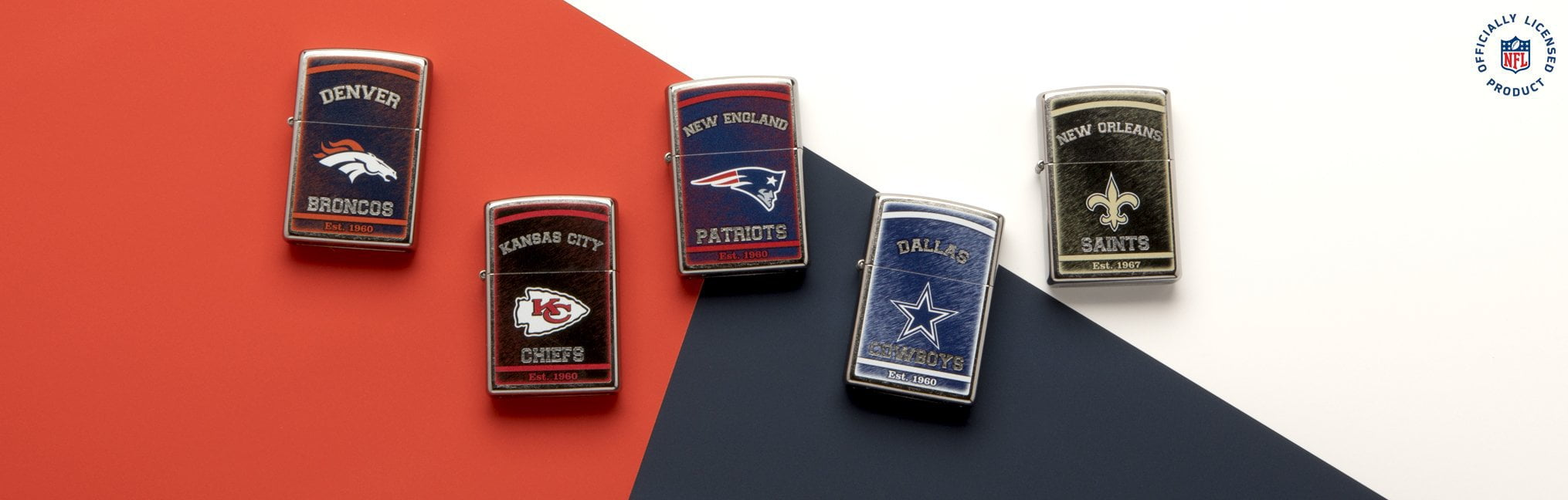 Banner for the NFL Lighters collection