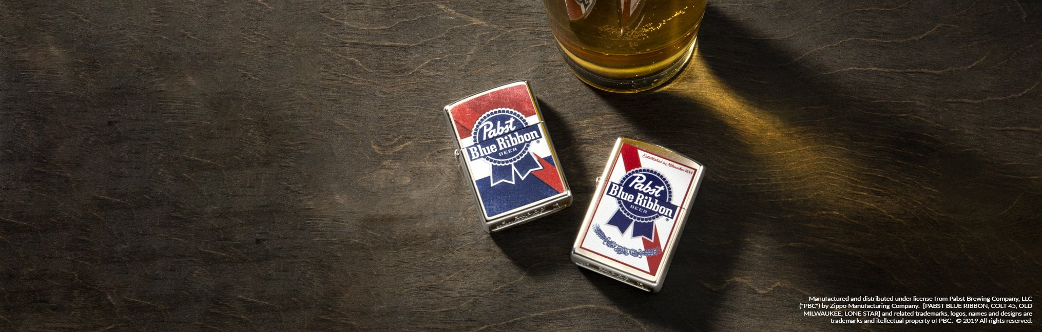Banner for the Pabst Brewing Company Lighters collection