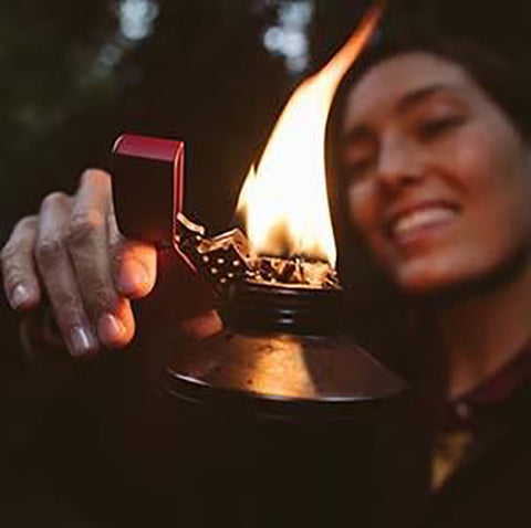 Zippo Lighter In Use