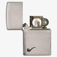Chrome Pipe Lighter with Insert