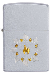 Auto Two Tone Flame Logo Lighter