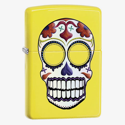 Day of the Dead Yellow Lighter