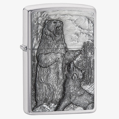 Bear vs Wolf Emblem Lighter