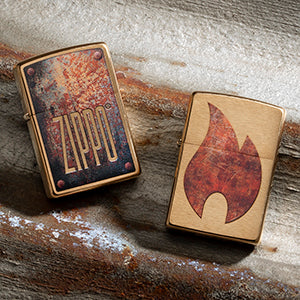 Zippo Logo Rust Patina Lighters