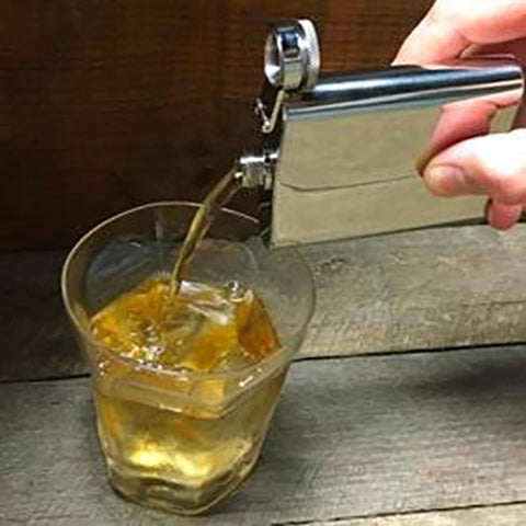Zippo Flask Pouring