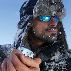 Frigid man with 12-Hour Zippo Hand Warmer