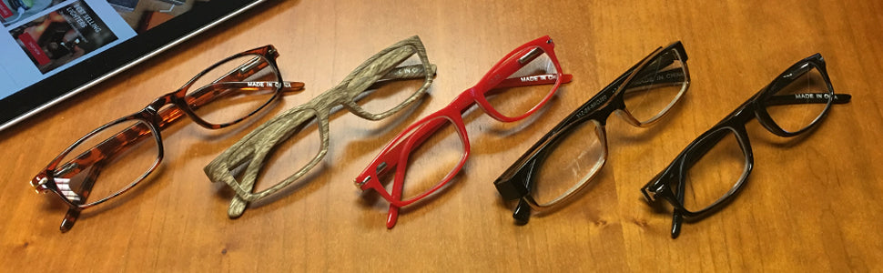 Slender Rectangular Reading Glasses
