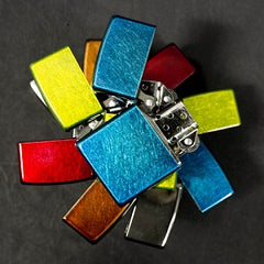 How are the colored iced lighters made?