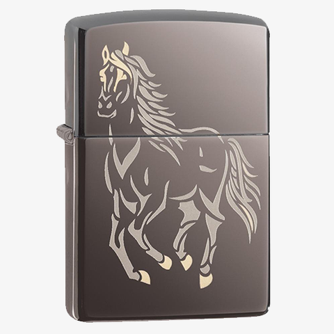 Engraved Horse Lighter