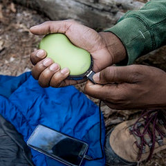 green rechargeable hand warmer