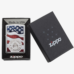 American Flag in Zippo One Box