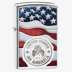 American Stamp Lighter with Color Image and Engraving Processes