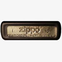 Zippo Windproof Lighter Bottom Stamp
