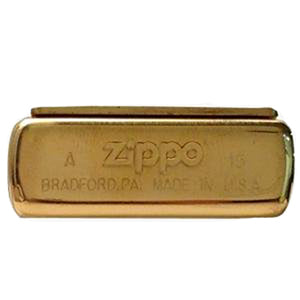 Zippo Windproof Brass Lighter Bottom Stamp