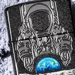 Zippo Moon Landing Collectible Laser Engrave and Deep Carve