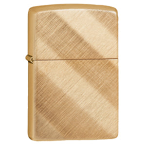 Diagonal Weave Brass lighter