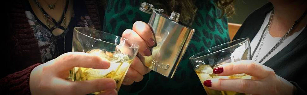 Zippo Flask in Use