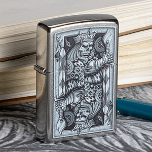 King of Spades Hand Drawn Lighter